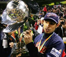 Ichiro celebrates Japan's 2006 WBC championship